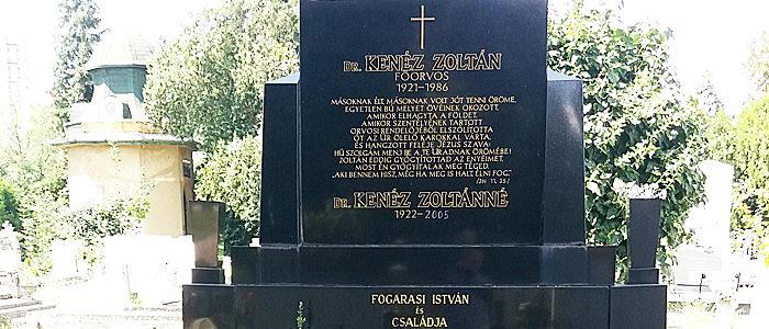 Kenéz Zoltán síremléke-700