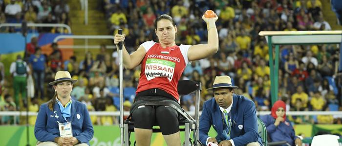 Rio de Janeiro, 2016. szeptember 18. Kálmán Krisztina a súlylökés F32 kategória döntõjében a riói paralimpián az Olimpiai Stadionban 2016. szeptember 17-én. A magyar versenyzõ a hatodik helyen végzett. MTI Fotó: Koszticsák Szilárd