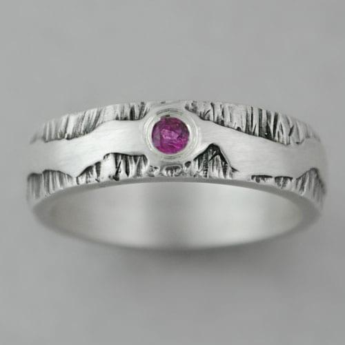 alianza de plata, turmalina, anillo de compromiso