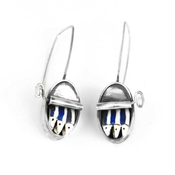 Silver Earrings, Sardines Can