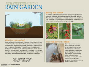 Standard Rain Garden Sign 21-2