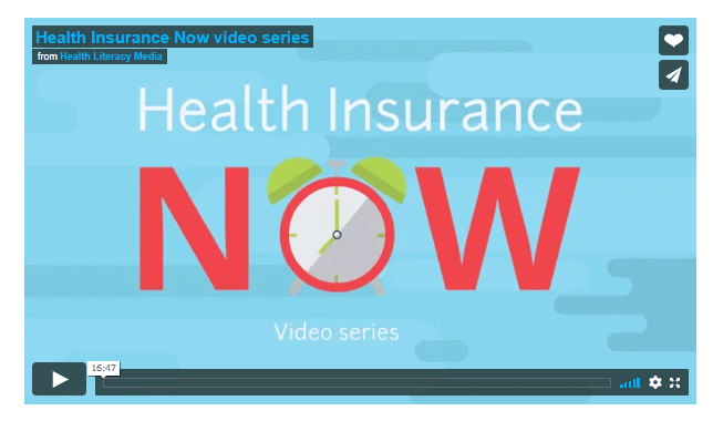 opening screen of Health Insurance Now video series