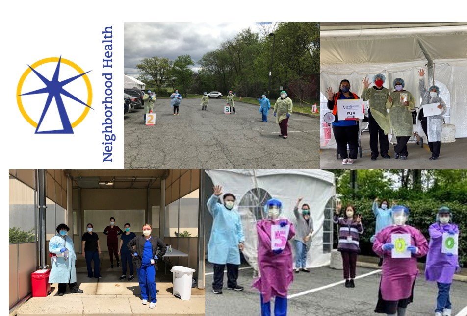 Photo collage of Neighborhood Health Testing Sites