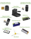 roomba 800 and 900 series components and accessories in box