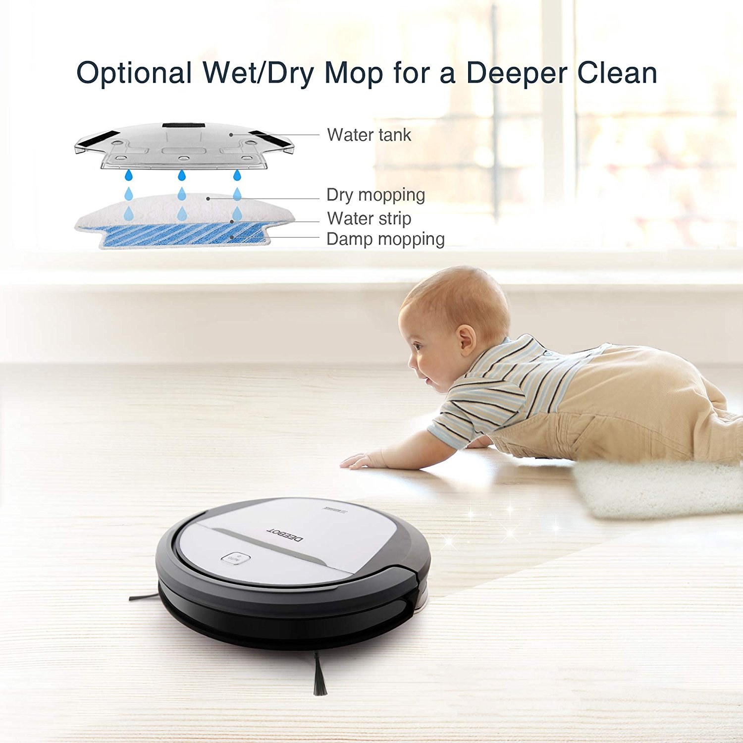 ECOVACS DeeBot M80, Mop Feature, Vacuum Fanatics, Reviews and Comparisons of Robotic Cleaners