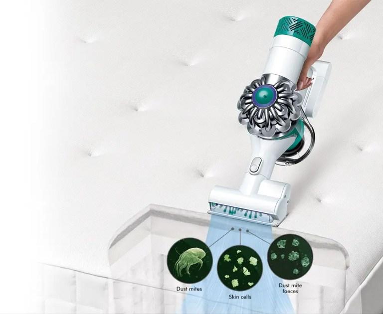 Dyson V6 clean mattress