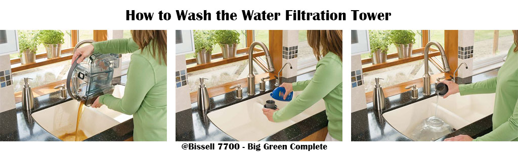 Bissell 7700 - Big Green Complete - Home Deep Cleaning System - Wash the water filtration tower