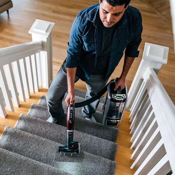 SharkNinja Rotator Vacuum NV752 cleaning upstairs