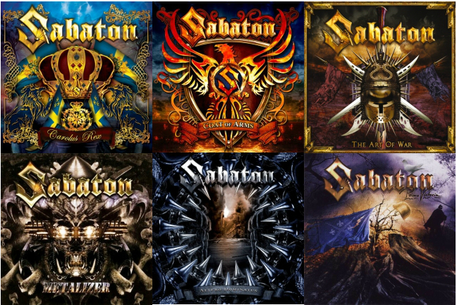 Collage of Sabaton Album Covers - Fan Art
