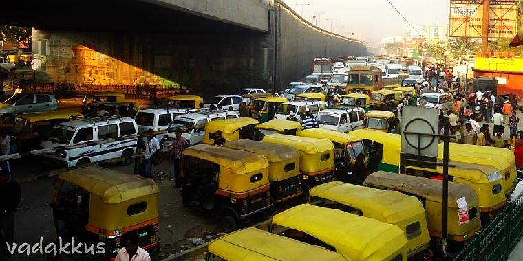 KR Puram Traffic Jam