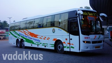 Kerala KSRTC Volvo Mult Axle Bus Nice Photo at Vyttila
