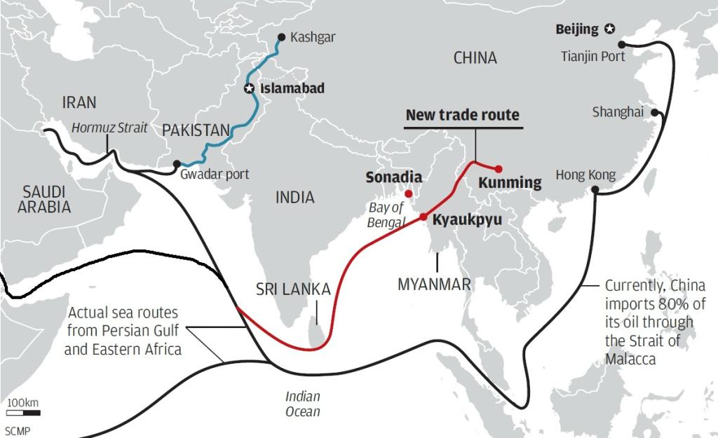 cpec-china-strategic-map