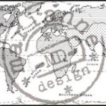 cs0913 Clear stamp map of the World