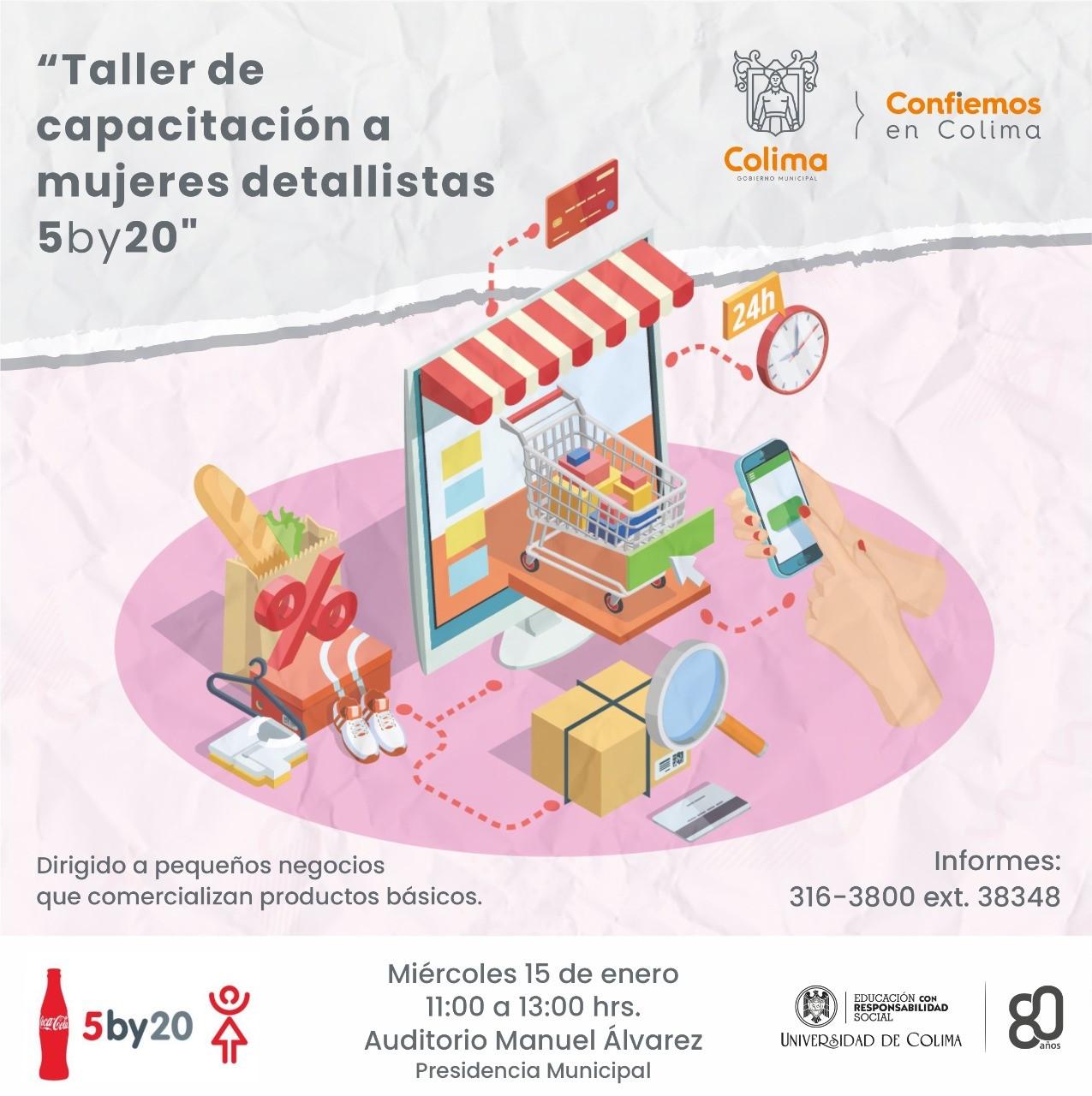 Ayuntamiento de Colima invita a curso gratuito de capacitación a mujeres comerciantes