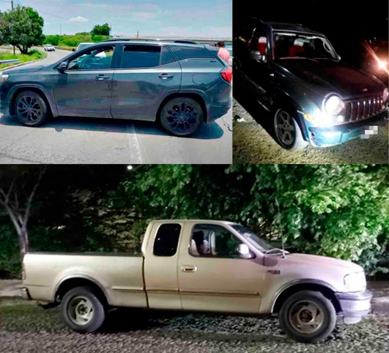 Son recuperadas tres camionetas robadas