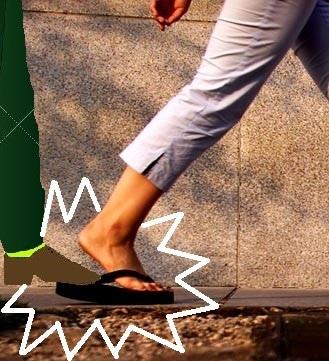 step on flip flop sandal