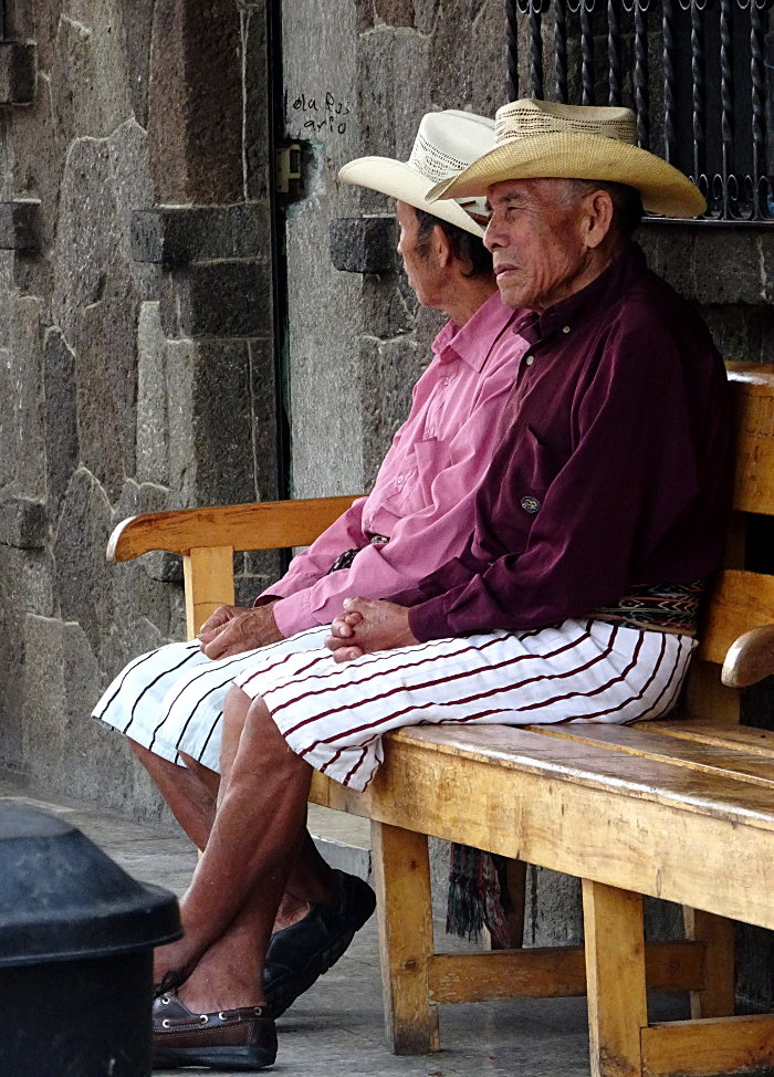 lac Atitlán hommes Santiago