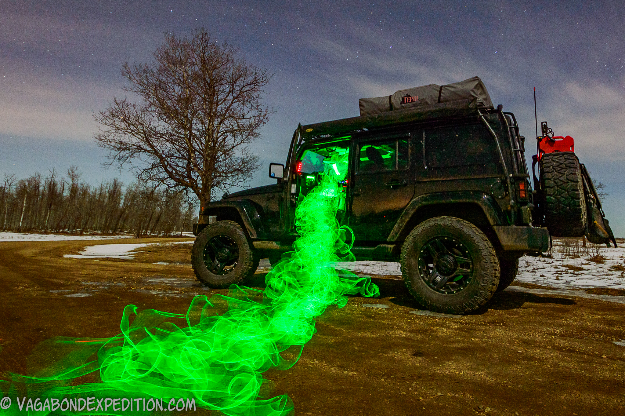 More Light Painting with the Overland Jeep