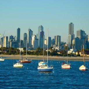 Utsikt från piren i St. Kilda, Melbourne