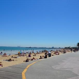 Stranden i St. Kilda, Melbourne