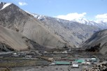 Small village of Gue located deep in the valley