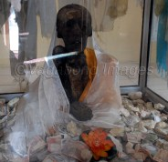 Mummy of monk sitting in a 'dhyan' (meditation)position