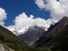Eight kilometre long valley leads to many high altitude trekking routes