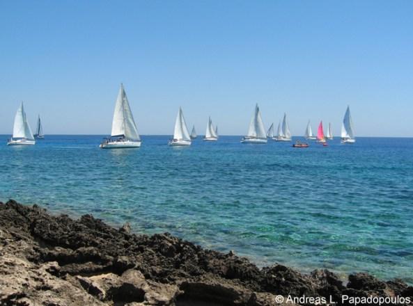 Sailing at Agia Napa