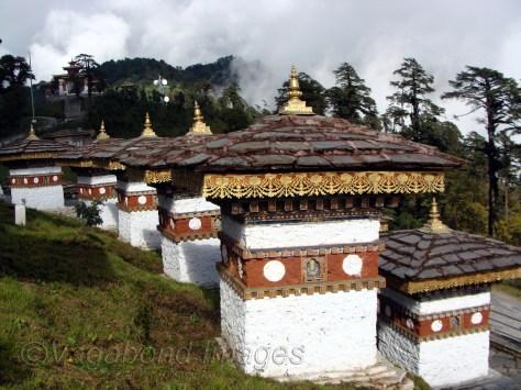 Chortens at Bhutan