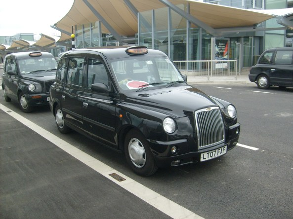 Taxi at Heathrow's terminal 5 in London. Photo: Wikipedia