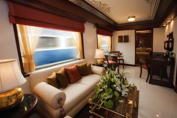 presidential suite of the Maharajas Express