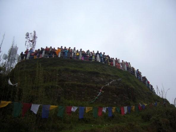 Observation deck at Tiger Hill in Darjeeling to watch sunrise
