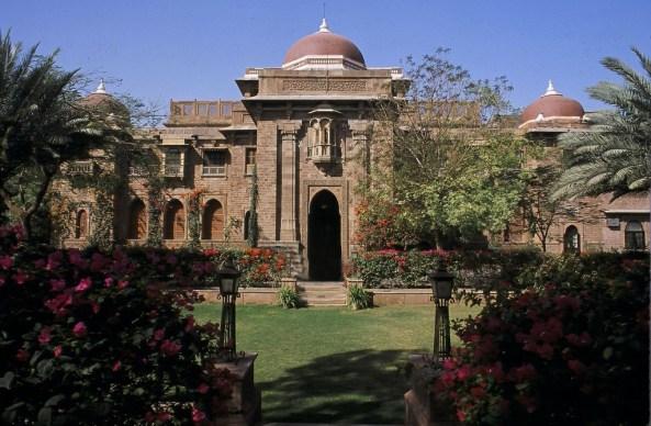 The exterior view of Ranbanka Palace