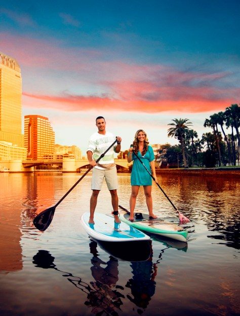 Tourists in Tampa Bay