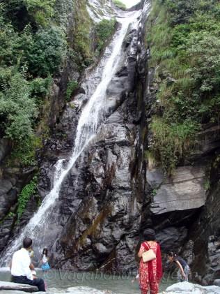 Bhagsu falls originate from Dal lake, close to Mcleodganj.
