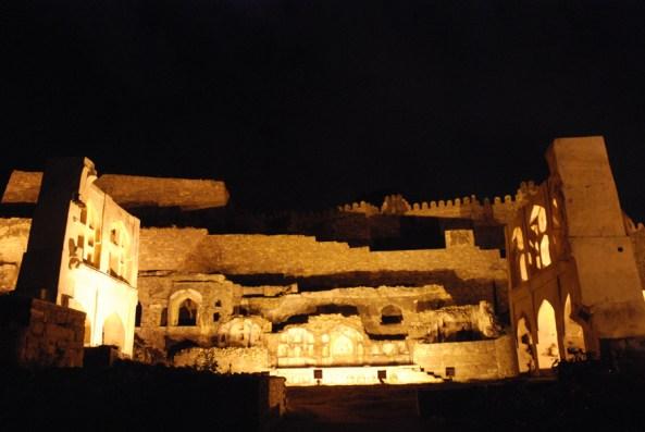 Golconda Fort at night