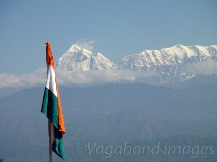 Trishul peak and Indian Tricolour!