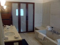 Inside view of a bathroom from a suite!