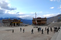 A game of cricket in the monastic complex