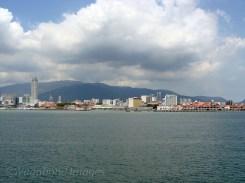 Approaching Penang in Malaysia