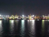 A port at night