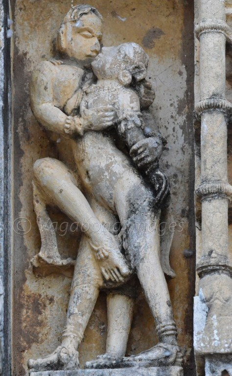 An erotic sculpture at Neelkanth temple