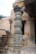 left pillar outside the main hall