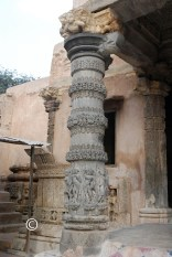 left pillar outside the main hall
