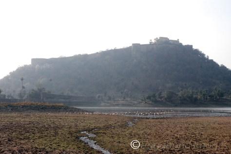 Kankawari Fort as seen from the lakeside