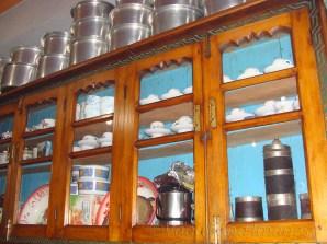 beautifully showcased traditional utensils