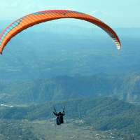 Flying like a bird in a paraglider