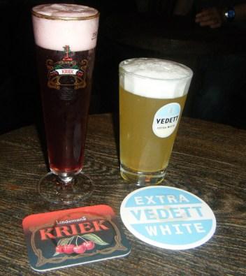 The bestest lambic beer ever! Kriek Cerise, a super refreshing sweet cheery beer that taste like a Shirley Temple.