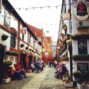 Pubs en el Comercial Court, en Belfast