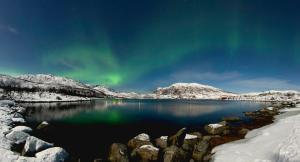 Aurora boreal en Tromso, Noruega